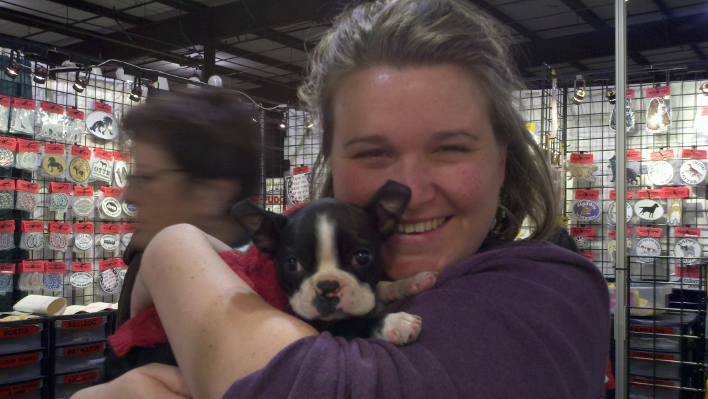Sarah with a new friend at the horse expo! -