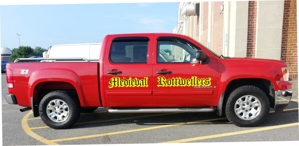 Custom lettering - on side of truck
