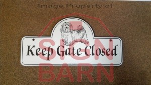 Slideshow Image - Havanese Gate Sign